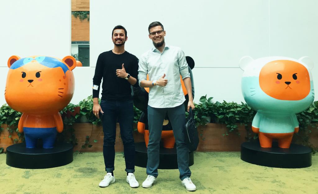 Виктор Кох и Богдан Матвеев в штаб-квартире Cheetah Mobile Inc.