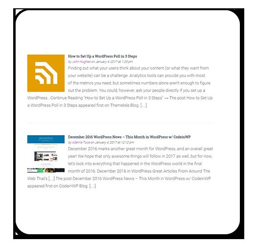 Простой пример использования плагина FEEDZY RSS Feeds Lite для WordPress